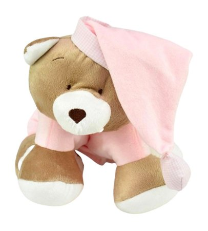 Meu 1° Puppet Urso Nino Rosa Zip