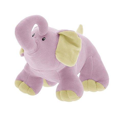 Pelúcia Elefantinha Baby Tonny Rosa - Zip