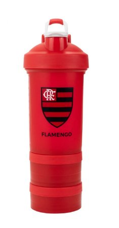 Garrafa Shakeira Com Mola Flamengo 500ml