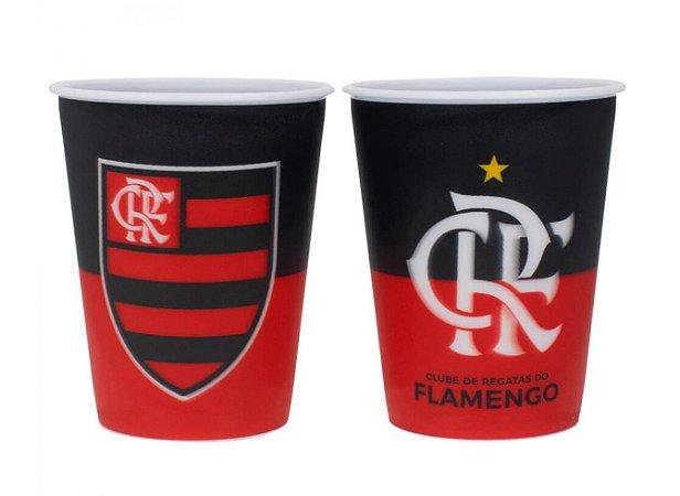 Jogo com 2 Copos De Plástico 3D Flamengo 400ml