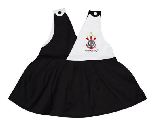 Vestido Bebê Corinthians Decote V - Torcida Baby