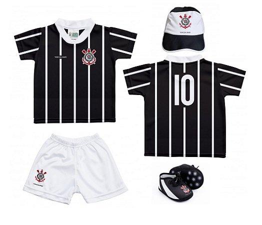 Kit Bebê Corinthians 4 Peças Oficial - Torcida Baby