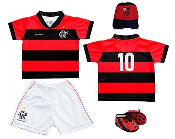 Kit Bebê Flamengo 4 Peças - Torcida Baby