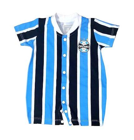 Macacão Bebê Grêmio Uniforme Jogo Oficial