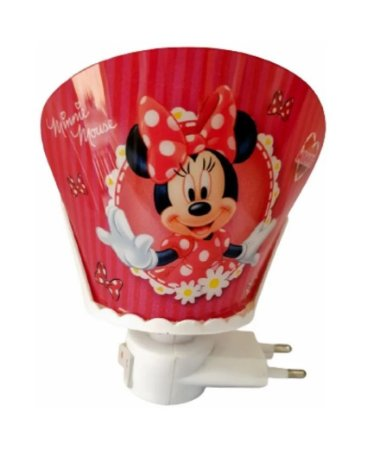 Mini Luminária Abajur Minnie - Disney