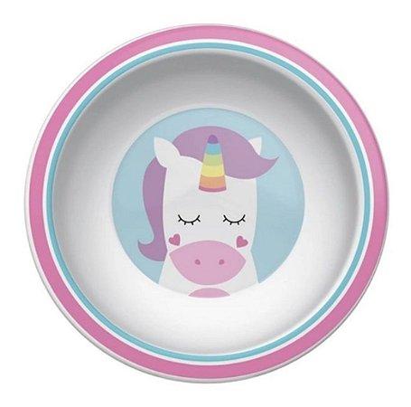 Pratinho Bowl Infantil Animal Fun Unicórnio - Buba