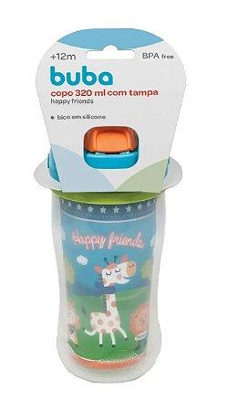 Copo Com Canudo Happy Friends 320ml - Buba