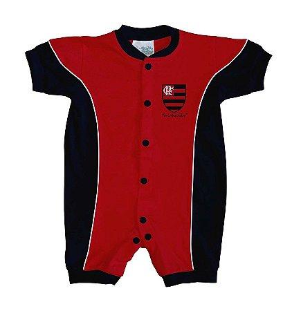 Macacão Bebê Flamengo Curto Torcida Baby