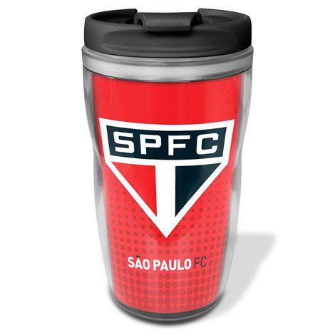Copo Térmico São Paulo Vermelho 450ml Oficial