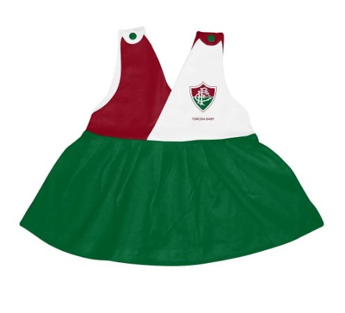 Vestido Bebê Fluminense Decote V - Torcida Baby