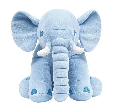 Pelúcia Elefantinho Sentado Azul 30cm Buba