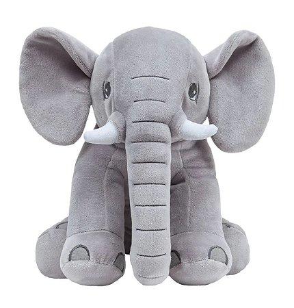 Pelúcia Elefantinho Sentado Cinza 30Cm Buba
