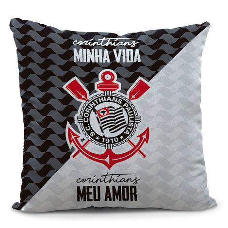 Almofada Corinthians Minha Vida 45cm Oficial