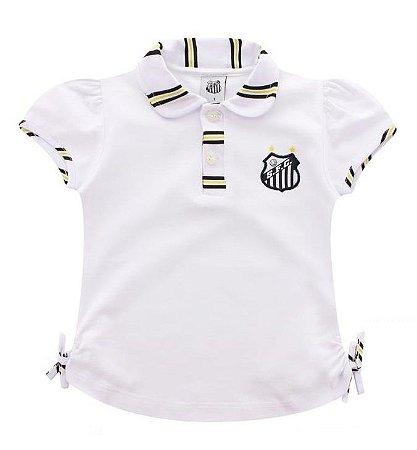 Camiseta Infantil Santos Feminina - Cia Bebê  bf30a66810549