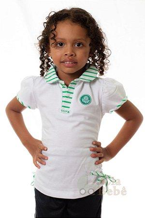 538319f4c9 Camiseta Palmeiras Polo Infantil Feminina - Cia Bebê | Produtos Infantis