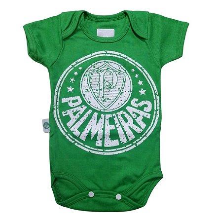 Body Bebê Palmeiras Verde Escudo Oficial