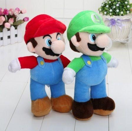 Pelúcia Mário e Luigi 25cm (2 Peças)