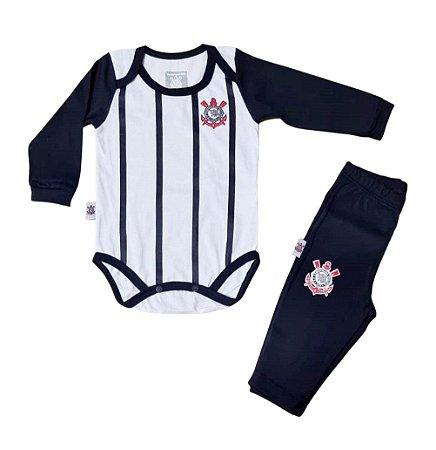 Conjunto Bebê Corinthians Body e Calça Oficial