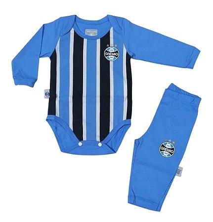 Conjunto Bebê Grêmio Body e Calça Oficial