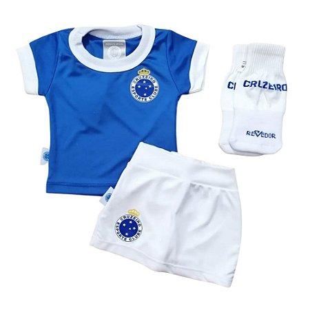 Uniforme Bebê Cruzeiro Artilheira Feminino Oficial