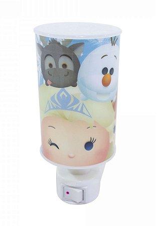 Mini Luminária Abajur Led Anna Elsa & Olaf Frozen