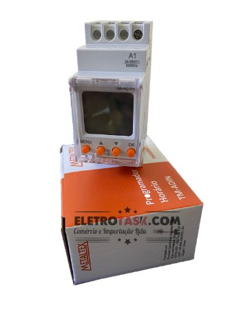 PROGRAMADOR HORARIO SEMANAL 24-240VCA/CC 16A TM-ADIN METALTEX
