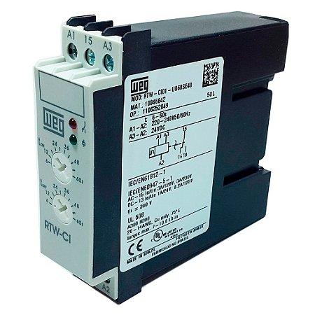RELE CICLICO 60 SEGUNDOS 220-240VAC / 24VCC RTW-CI01-U060SE40 WEG