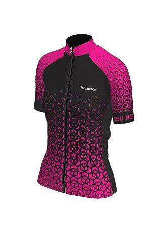 camisa ciclismo feminino nordico nitro personalizado pink ref 1320 c1