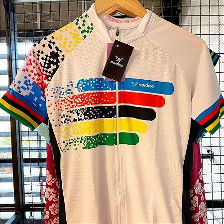 Camisa ciclismo feminino nordico guns roses ref 1342 c1