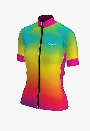 Camisa ciclismo feminino nordico iris ref 1327 c1