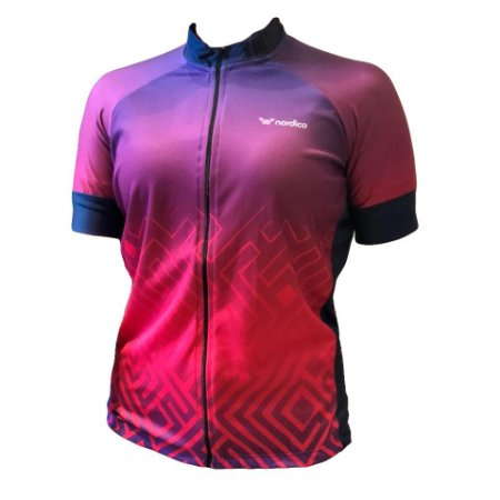 Camisa ciclismo feminino nordico tribe ref 1313 c1
