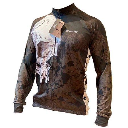 Camisa ciclismo manga longa skull e ref 1329 c8