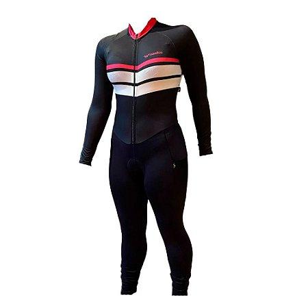macaquinho calça ciclismo feminino manga longa samanta ref 1170 m14