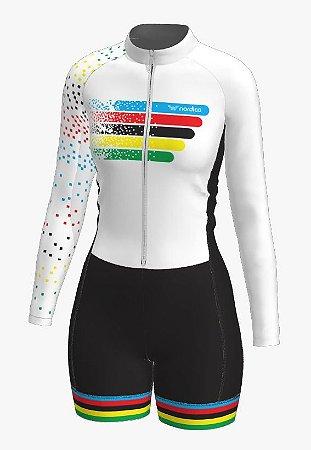 macaquinho ciclismo feminino manga longa guns roses ref 1347 m18