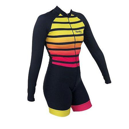 macaquinho ciclismo feminino manga longa ketlin ref 1122 m10
