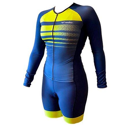 macaquinho ciclismo feminino manga longa ravena ref 1342 m29