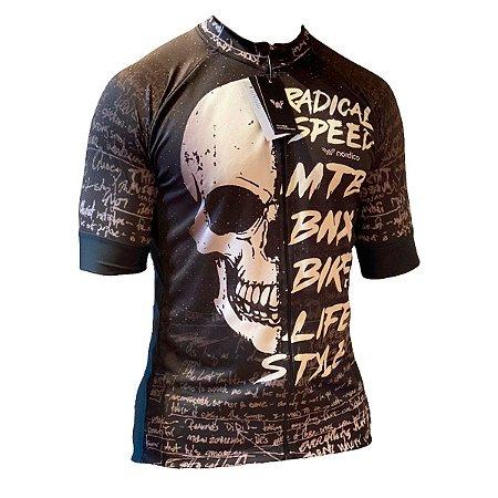 camisa ciclismo feminino nordico caveira dark face ref 1379 c1