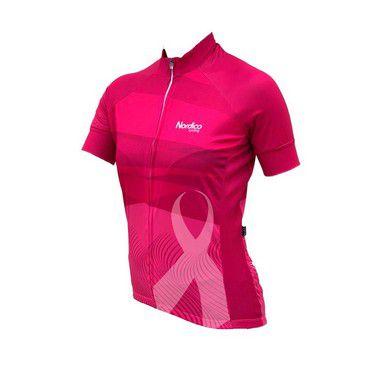 Camisa Ciclista Feminina Outubro Rosa Nordico Iniciante 1380