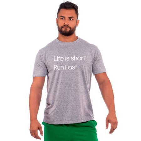 camiseta nordico life is short run fast