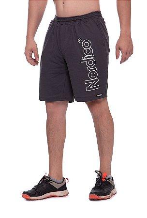 Shorts masculino malha Nordico cor chumbo