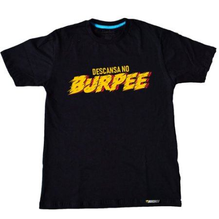 Camiseta descansa no burpee