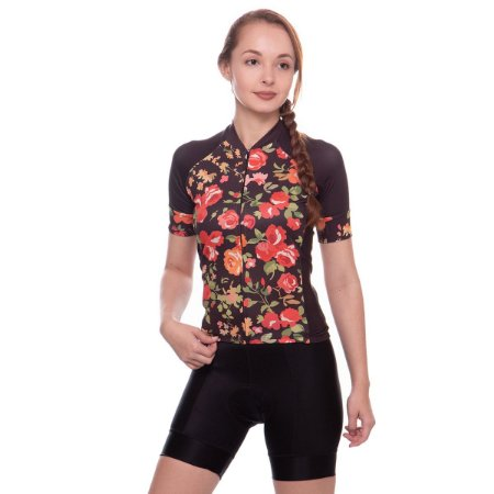 camisa feminina nordico CICLISMO flores 1059