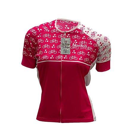 camisa feminina nordico ciclismo bikes ref 1073