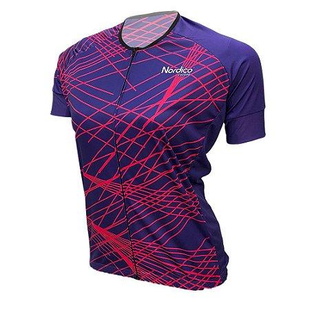 camisa feminina nordico ciclismo laser ref 1069