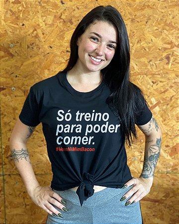 Camiseta feminina laço nordico só treino para poder comer