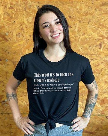 Camiseta feminina laço nordico clown