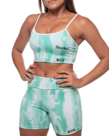 top nordico feminino tie dye Neo Mint