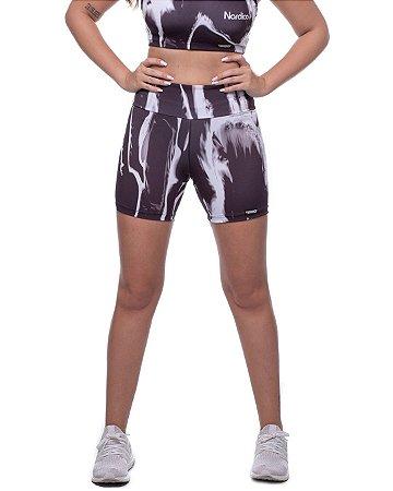shorts nordico feminino tie dye gray