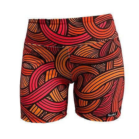 shorts nordico feminino swirls fire