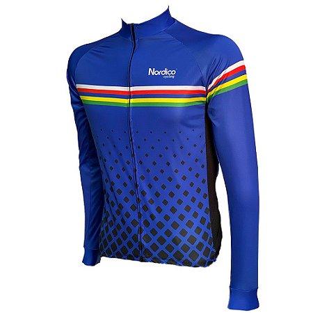 camisa ciclismo manga longa nordico global blue ref 1176